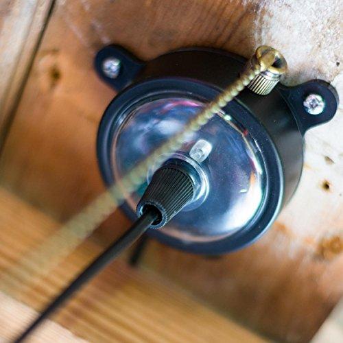 Good Plafonnier Solaire En Metal Noir Lampe Eclairage 4 Led
