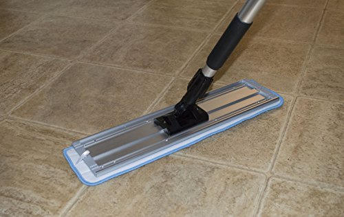 Nine Forty | Industrial | Commercial Microfiber Hardwood Floor Dust Mop with Handle for Floor Cleaning Set | 18'' Flat Frame Mop Head Pad by Nine Forty (Image #1)