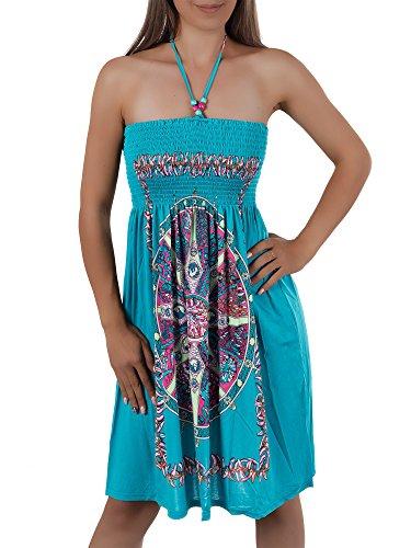 estivo colorato dell'abito donna Aztec Bandeau H112 P5ZInR8x8