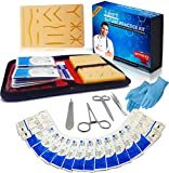Suture Practice Kit for Medical Dental Vet Training Students, Including Mini Silicone Pad with Sutures and Suture Needles - Ebook for Training