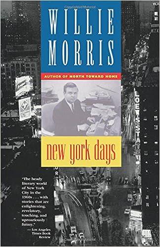 New York Days Willie Morris 9780316583985 Amazon Books
