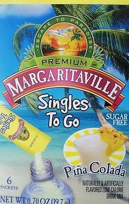 Margaritaville Pina Colada Singles to Go 6 Packets X 2 Boxes =12 Packets