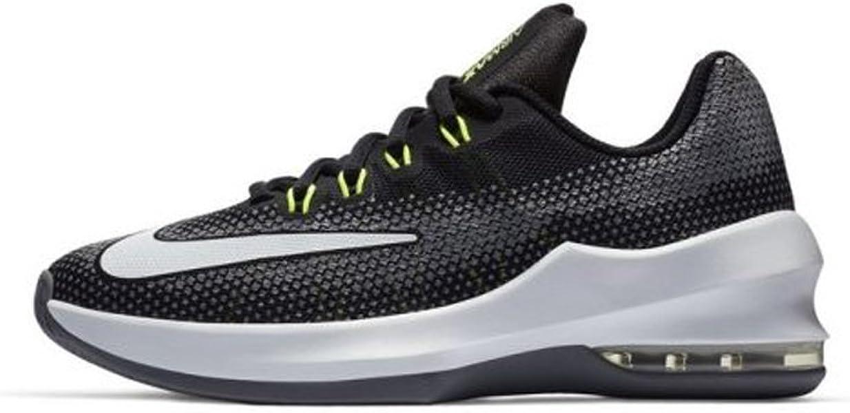 official photos c8e1e 5db29 Nike Boy s Air Max Infuriate (GS) Basketball Shoe Black White Volt