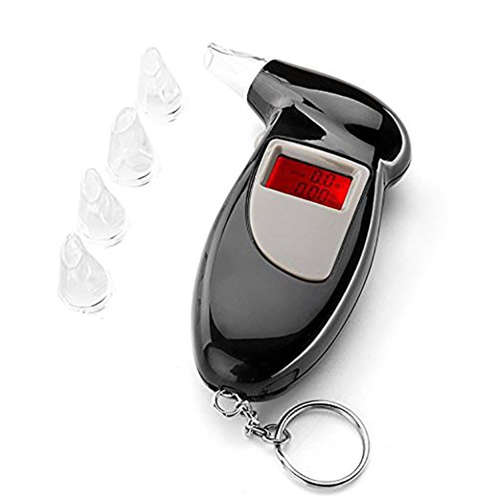 ANDE Etilometro Portatile Tester dell'alcool LCD Breath Etilometro con il Design Portachiavi