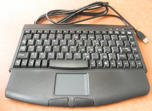 (Adesso ACK-540UB Mini Wired USB Keyboard with Glidepoint Touchpad - Black)