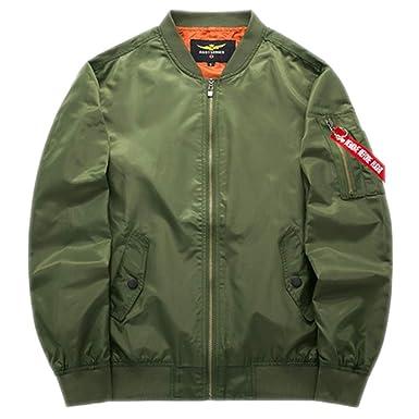 KT&Jacket Chaqueta Bomber Chaqueta de Talla Grande Chaquetas de béisbol piloto para Hombres