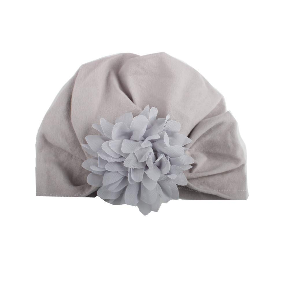 Naiflowers Infant Baby Girl Beautiful Pointed Flower Knotted Bohemian Wind Girl Cotton Beanie Hat