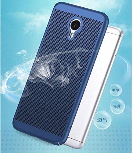 Funda Meizu M3 Note,Alta Calidad Ultra Slim Anti-Rasguño y Resistente Huellas Dactilares Totalmente Protectora Caso de Plástico Duro Case,Cuadrícula Disipación de calor Antideslizante Cover D