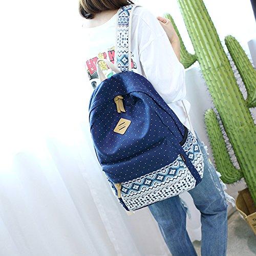 Scuola Pollici Verde Bookbag Alta Attrezzature Zaini Tela Mercato 15 Buon Qualità 6 Di A Donne Zaino Viola AqxnStx