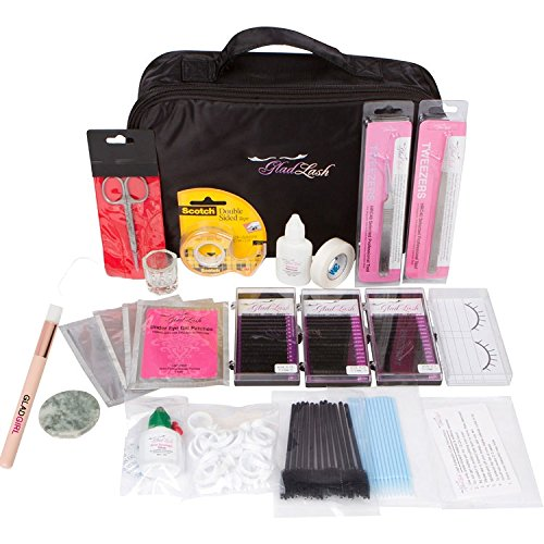 Glad Lash Essential Student Eyelash Extensions Kit with Mixed Length Lashes, Glue, Tools by GladGirl