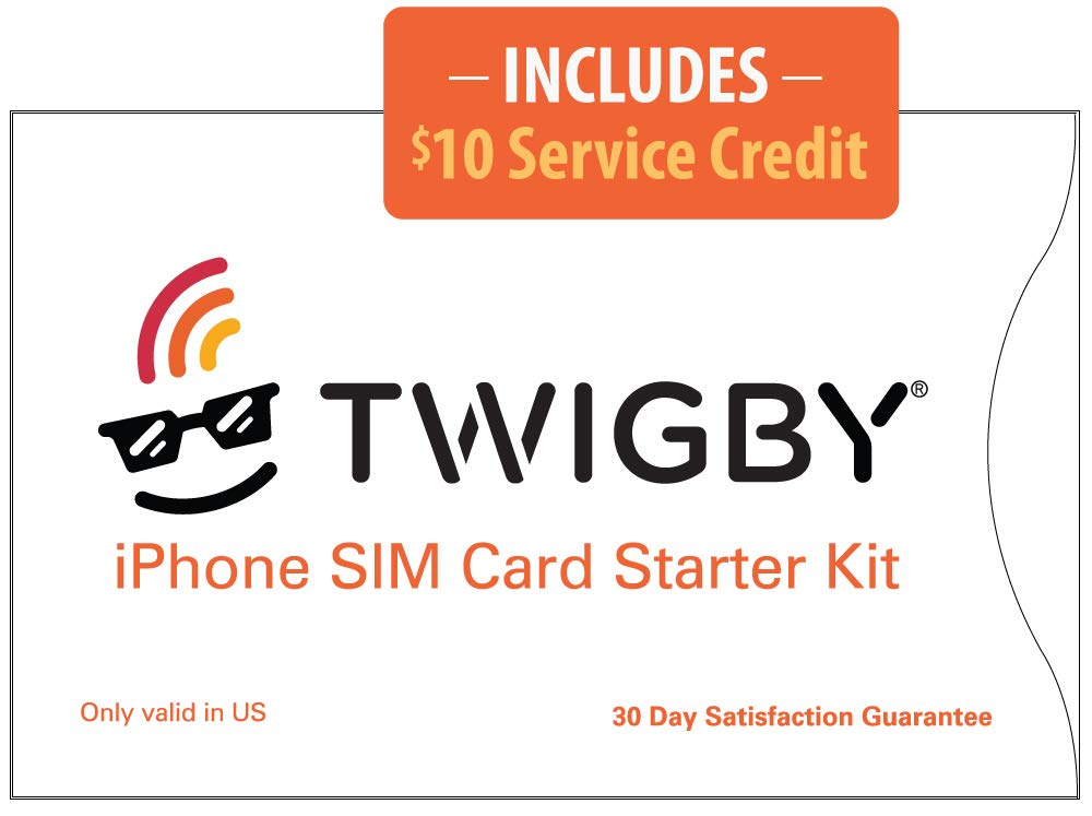 Twigby Unlocked iPhone SIM Card Kit. Compatible with Sprint/Verizon Unlocked iPhone SE (1st Generation), 6, 6 Plus, 6s, 6s Plus, 7, 7 Plus. Only from Twigby.