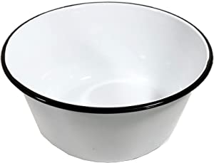 Black Rim Enamel Mixing Bowl 11