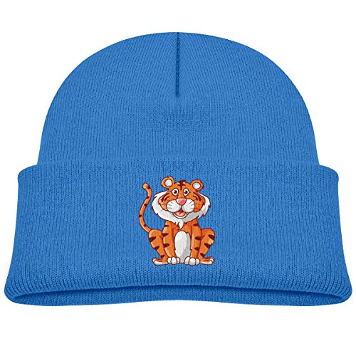 Lily Grow Easter (Kids Knitted Beanies Hat Tiger Cartoon Winter Hat Knitted Skull Cap for Boys Girls Blue)