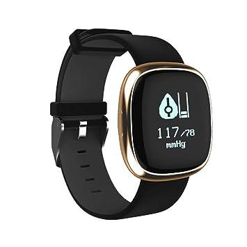 MRXUE Smart Pulsera Impermeable Monitor de Ritmo cardíaco para niños Mujeres Hombres Bluetooth podómetro para Android iOS Smartphone,Metallic: Amazon.es: ...