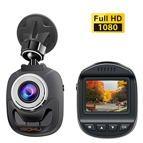 iGOKU Mini Dash Cam 1080P Full HD 1920×1080, 140° Wide Angle, 1.5″ LCD Dash Camera for Cars with Built-in G-Sensor, Night Vision, Loop Recording, Parking Monitoring, WDR, Video Recorder in Car Camera