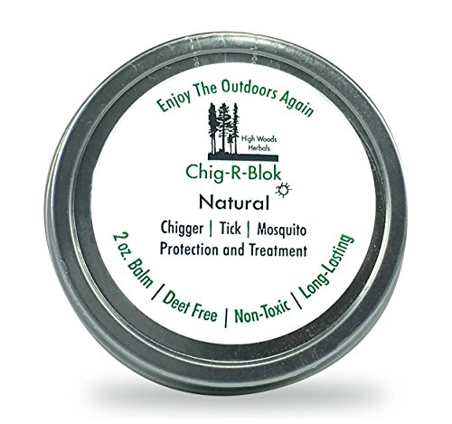 Chig-R-Blok, Chigger Block, Deet-Free Insect, Tick & Mosquitoes All Natural Repellent & Treatment Balm, 2 oz
