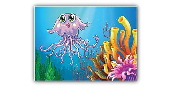 Jellyfish Coral Reefs Car Bumper Sticker Decal 5/'/' x 4/'/'