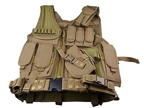 SNIPER Cross Draw Tactical Vest - Tan