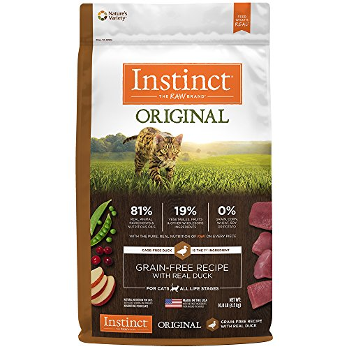 Natures Variety Instinct Duck (Instinct Original Grain Free Recipe with Real Duck Natural Dry Cat Food by Nature's Variety, 10 lb. Bag)