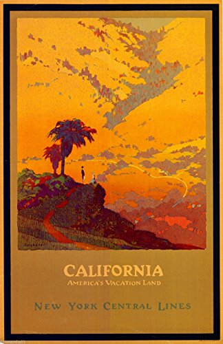 California America's Vacation Vintage United States Travel Advertisement Poster