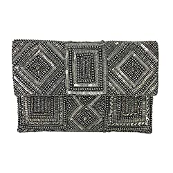 Mercury Beaded Clutch