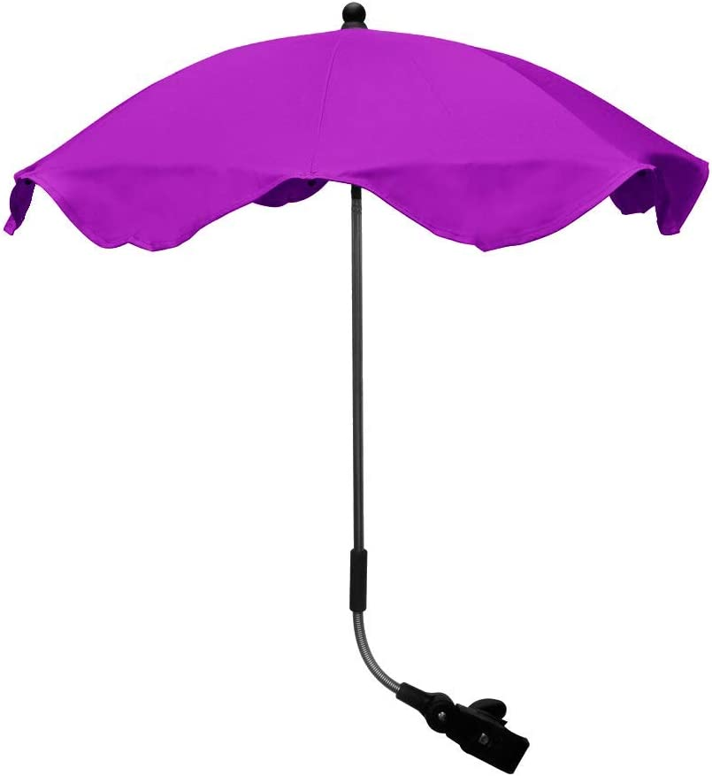 to Fit Zeta Universal Stroller Pram Parasol Umbrella Canopy Triple Adjust Fully Universal Purple