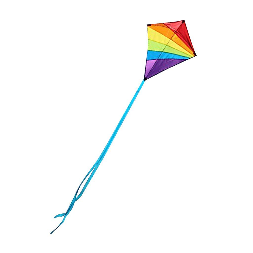 MagiDeal Rainbow Rhombus Kites Kite Windsock Outdoor Game Garden Playground Toy non-brand