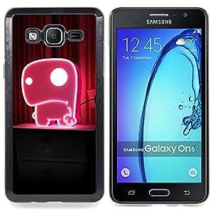 """For Samsung Galaxy On5 O5 , S-type Divertido monstruo rosado lindo"""" - Arte & diseño plástico duro Fundas Cover Cubre Hard Case Cover"""