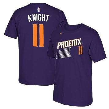 Adidas Brandon Knight Phoenix Suns NBA Morado Nombre y número Jugador Equipo de Jersey Color Camiseta de Manga Corta para Hombre, S, Púrpura: Amazon.es: ...