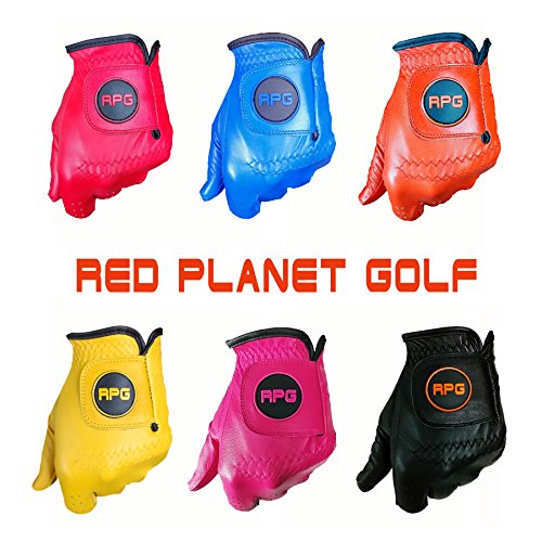 RPG Color Golf Gloves 100% AA CABRETTA Leather-Mens (Red XL)-Match Colors with Your Golf Shirt, Golf Pants, Golf Hat, Golf Bag, Golf Brush, Golf Towel, Golf tees, etc (Red, X-Large)