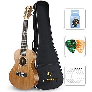 Amazon Com Qte Beginner Concert Ukulele Mahogany 23