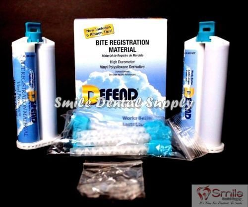 DEFEND- Bite Registration Material Fast Set 2x50ml Unflavore 113680 Us Depot
