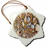3dRose TDSwhite – Rock Photos - Rocky Ground - 3 inch Snowflake Porcelain Ornament (orn_281929_1)