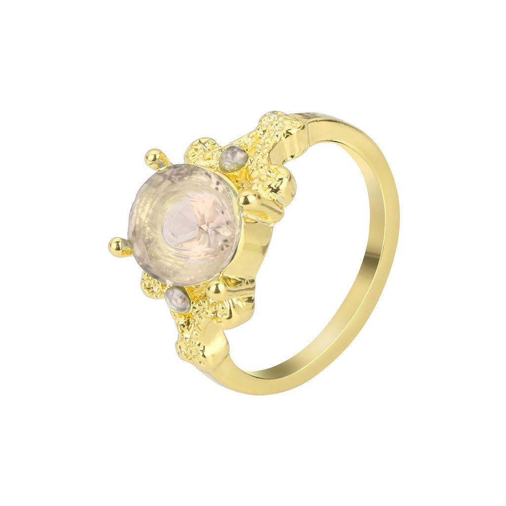 Sunyastor Women's Exquisite Sterling Silver Ring Oval Cut Fire Opal Diamond Jewelry forGift Bridal Engagement Party Rings