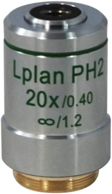 BoliOptics 20X Infinity-Corrected Long Working Distance Achromatic Phase Contrast Microscope Objective Lens Working Distance 7.6mm PH05133431 L Plan PH2