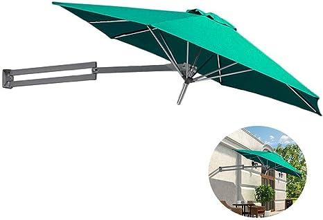 LNDDP Parasoles Sombrilla para Patio Montaje en Pared - Jardín al Aire Libre Balcón Sombrilla inclinable Sombrilla, Poste Aluminio, Ø 8 pies/250 cm (Color: Verde): Amazon.es: Deportes y aire libre