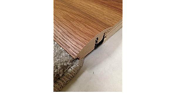 Alfombra maciza a madera semirrama de suelo tapacubos puerta Threshold cubierta de madera de roble para suelos de 14 mm a 18 mm 0,9 m: Amazon.es: Bricolaje ...