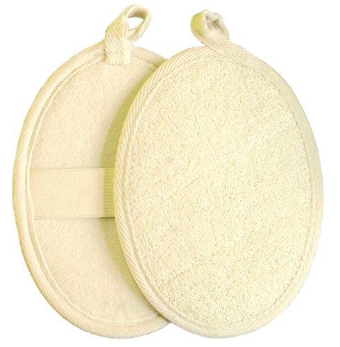 GAINWELL 2x PEELING LUFFA-HANDSCHUHE, 100% Natur-Luffa, Massage, Wellness, für samtweiche Haut
