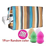 EYX Formula Waterproof Rainbow Handle Bag Cosmeic Bag Wash Bag ,Potable Toiletry Bag Makeup Bag Organizer for Ladies offers