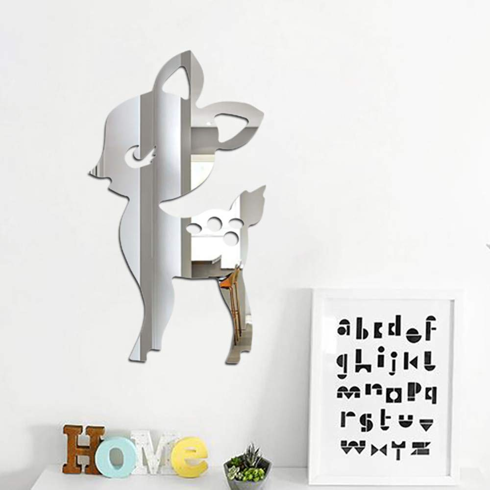 Mitlfuny Weihnachten Home Tur Dekoration 2019 Nordische Acrylspiegel Karikatur Wand Kamera Requisiten Kinderzimmer Wand Dekoration Dekoartikel Fur Kinderzimmer Kinderzimmer