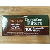 DisposaCup Filters - 100 Disposable Replacement Filters for Use in DisposaCups, My K-Cup® and More - BOX of 100 FILTERS - THE ONLY ORIGINAL!
