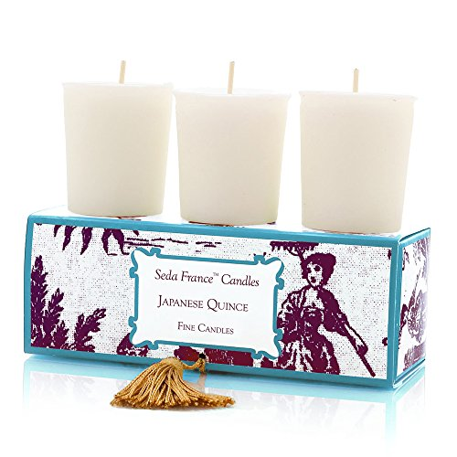 (Seda France Classic Toile Votive Candles, Japanese Quince, 2 Ounce)