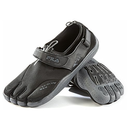 Men's Fila Skele-toes EZ Slide Shoes Black / Charcoal, Black/Charcoal, 9D