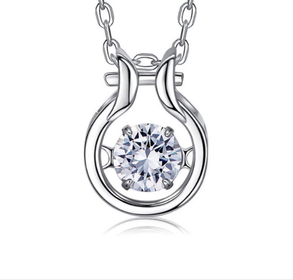 QWERST女性ネックレススターリングシルバー星座人格ペンダントファッションエレガントな絶妙なネックレス最高の贈り物   B07MSJDBHP