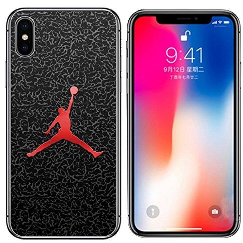 Mj Dunk Slam - Ailiber for iPhone X and iPhone Xs Case, Sport Shot Ball Slam Dunk MJ AJ NBA Black Slim Soft Fullbody Shockproof TPU Bumper Hard PC Cushion Protective Cover for Apple iPhoneXs/X 5.8in - Basketball