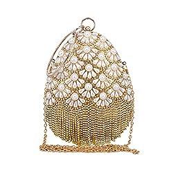 European Fashion Oval Diamond Pearl Handbag