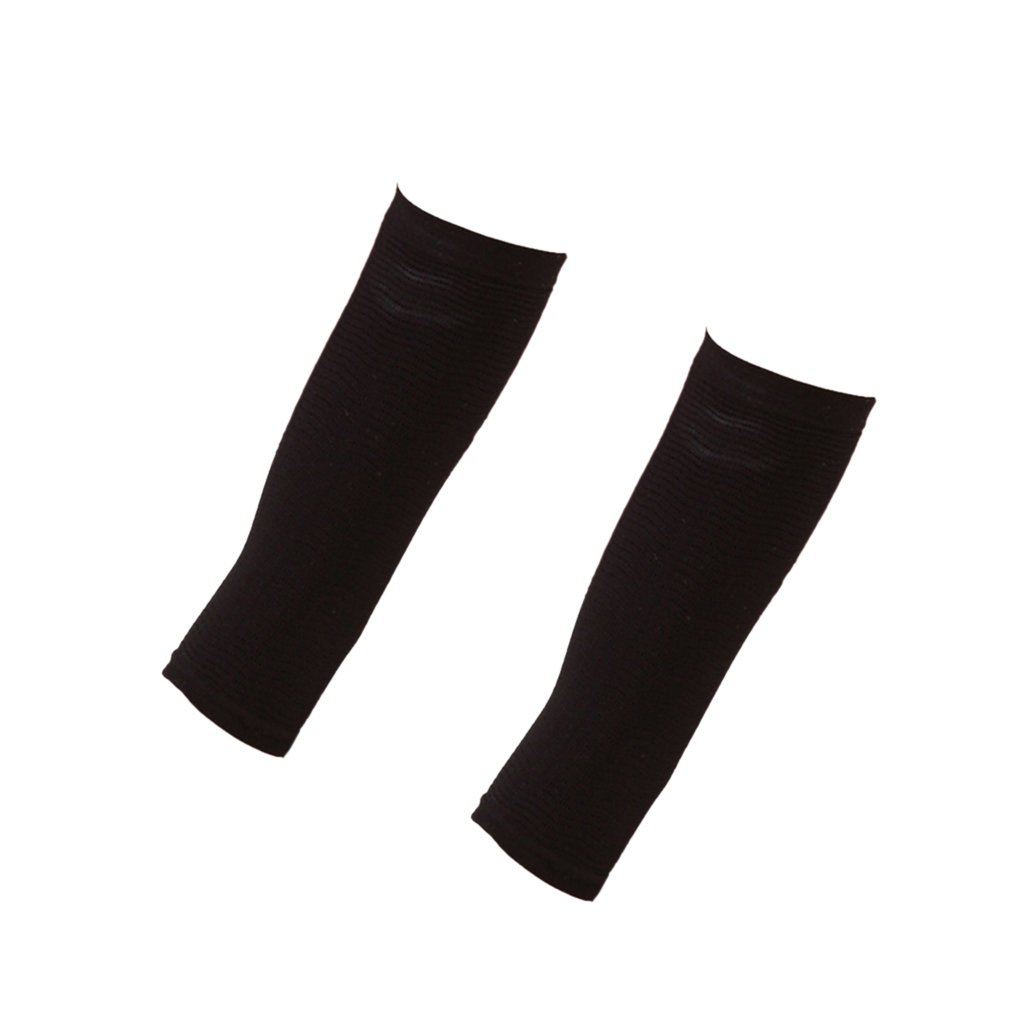 04db9d3d03 Segolike 1 Pair of Women Sauna Upper Arm Shapewear Slimmer Shaper Sleeves  Wraps - Black   Skin Color - One Size - black  Amazon.in  Sports