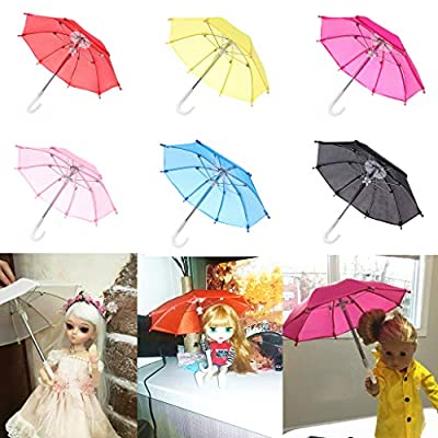 yuanhaourty Colorful Mini Doll Umbrella Rain Gear Kids Toy for American Doll 18 Inch Doll Accessories Baby Photography Props: Toys & Games