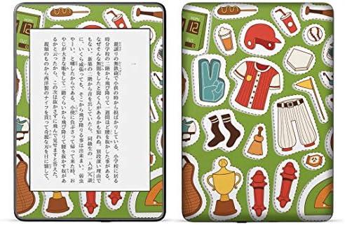 igsticker kindle paperwhite 第4世代 専用スキンシール キンドル ペーパーホワイト タブレット 電子書籍 裏表2枚セット カバー 保護 フィルム ステッカー 015711 野球 運動 球技