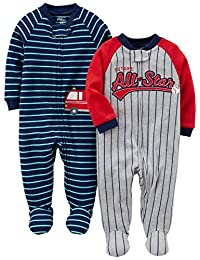 Simple Joys by Carter's Boys' 2-Pack Cotton Footed Sleep and Play